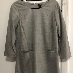 Gray wool Jcrew shift dress